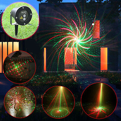 LED Laser Light RED GREEN MOTION Projector Outdoor Garden Christmas AU Stock!