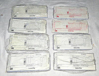 FIVE Packets 50 Credit Card Sales Slips, Two Packets Credit Slips, 1 Opened Pack