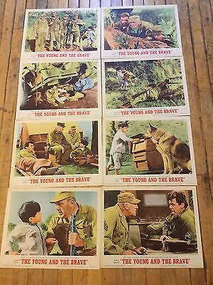 Vintage The Young And The Brave Theatre Movie Lobby Cards