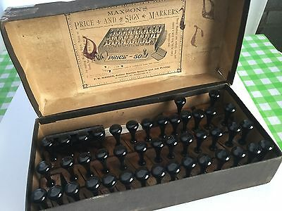 Vintage Victorian Maxson's Rubber Stamp Printing Kit