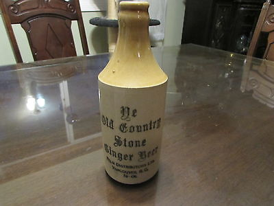 Antique  Stoneware  Ginger Beer Victoria Bc Two-Tone