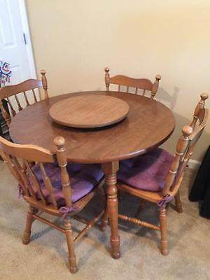 COCHRANE BAY COLONY Dining Room Table with Four Chairs ...