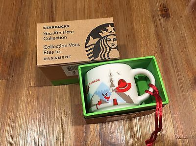 """2016 Starbucks """"YOU ARE HERE"""" YAH  Canada Collection Ornament - Canada  2 oz"""