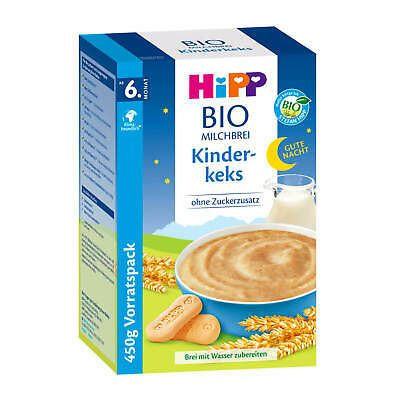 (19,50 €/ kg) 500g Hipp Organic Milk Pudding Good Night Children Biscuit Without
