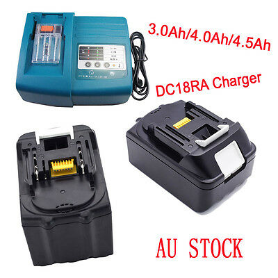 3.0Ah 4.0Ah 18V Makita Battery BL1830 BL1840 LXT Lithium Ion Charger DC18RA NEW