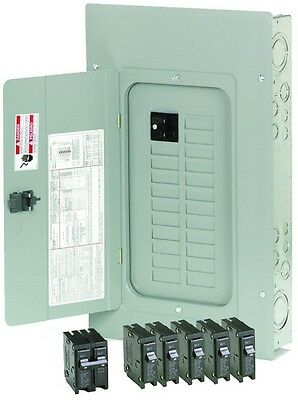 Eaton 100 Amp 20-Space/Circuit Electrical Main Breaker Box Panel Load Center