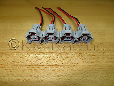 (4x) Denso Fuel Injector Connector Quick Disconnect Pigtails