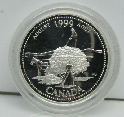 1999 Canada Commemorative Sterling Silver 25-Cent Proof Quarter Coin – August