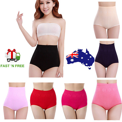 Tummy Control Slim High Waist Briefs Shapewear Cotton Brief Underwear Panties