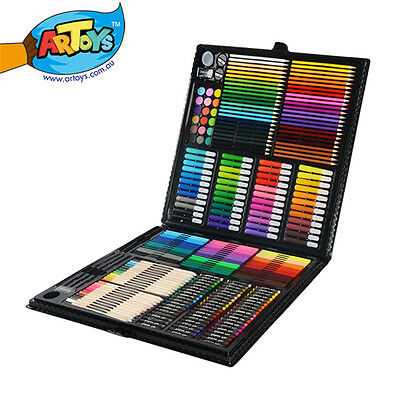 258 Pieces Art Box Set Color Pencil Watercolor Pencil Marker Oil pastel Paint