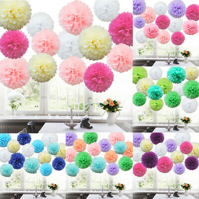 40 Mixed Tissue Paper Pompoms Pom Poms Hanging Garland Wedding Party Decor
