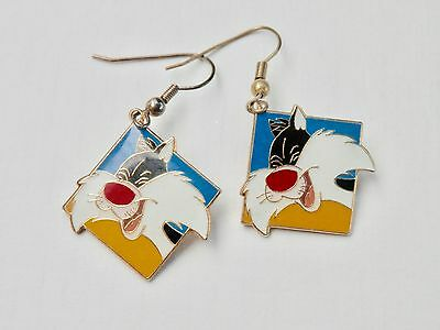 Looney Tunes Earrings Sylvester Cartoon Character Time Warner Brothers Syndicate