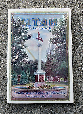 Vintage c 1910s 1920s UTAH Travel Book 100 pages Nice Condtion