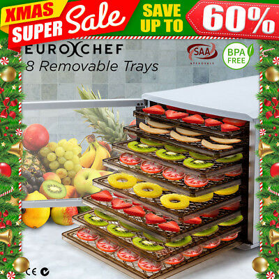 8 Removable Trays Food Dehydrator- Commercial Beef Jerky Dryer Fruit Preserver