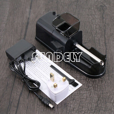 Cigarette Tobacco Rolling Machine Roller Maker Automatic Electric Injector Black