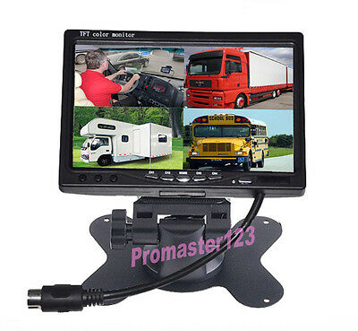 "12V-24V Car Rear View 7"" LCD Monitor 4CH Split Screen For Truck Reverse  Camera"