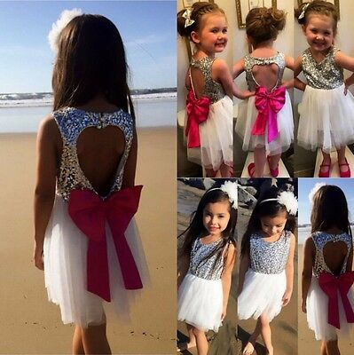 Flower Girls Kids Toddler Baby Princess Party Pageant Wedding Dresses Size 2-7