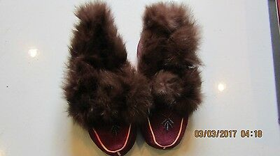 Vintage Childrens Shoes -Perfect Photo Props Adorable Moccasins Canadian