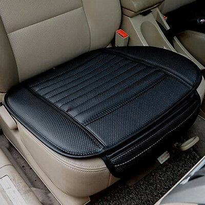 Car Seat Soft Breathable Protect Cushion PU Leather Bamboo Charcoal Mat Black