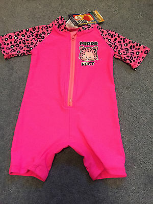Baby girls swimmers togs one piece many sizes NEW with Tags swimwear UPF50+