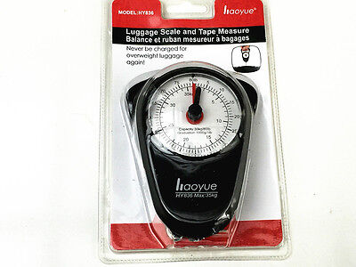 PORTABLE LUGGAGE SCALE With TAPE MEASURE -Brand New