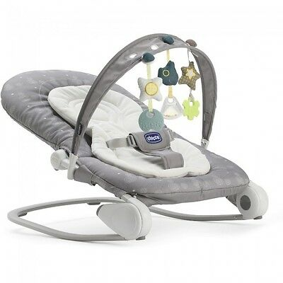 Chicco Hoopla Foldable Bouncer Baby - Stone Grey - NEW