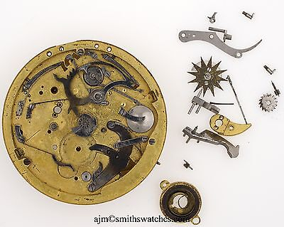 Barwise London Repeating Pocket Watch Movement Spares Or Repairs W10