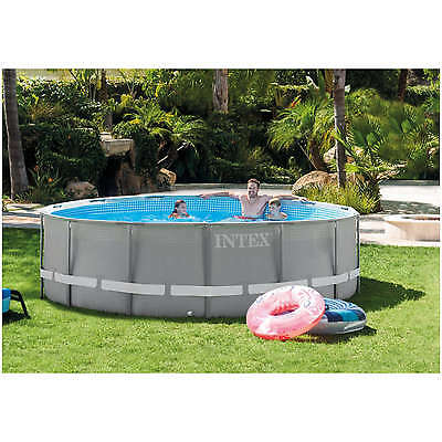 Piscina Ultra Frame Intex 28310 Tonda 427x107 cm completa di accessori