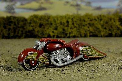 R&L Diecast: Hotwheels Loose Playworn  2003, W-Oozie, Custom V Twin Bike