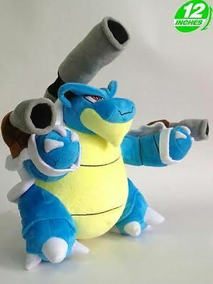 "FAST SHIPPING Mega Blastoise 12"" 30cm Pokemon Go Game Figure Soft Plush Toy Doll"