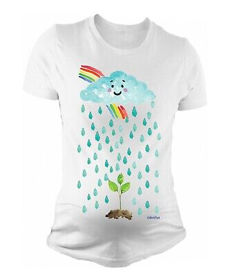 Ladies MATERNITY T-Shirt Baby Seed Rainbow Cute Womens PREGNANCY Baby Gift