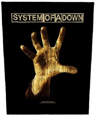 SYSTEM OF A DOWN distressed hand 2017 - GIANT BACK PATCH - 36 x 29 cms SOAD