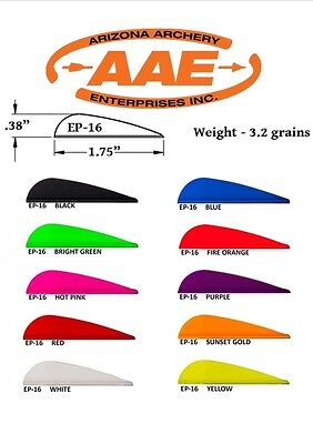 AAE Arizona Archery EP 16 Elite Plastifletch Vanes x 12