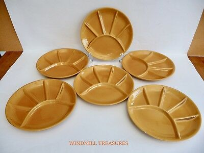 6 CES FRENCH HEAVYWEIGHT CERAMIC FONDUE SUSHI SERVING PLATES - 23cm