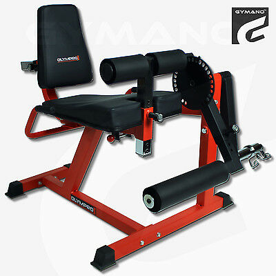 Gymano™ | Pro Leg Curl & Extension Bench - Leverage Gym / Weight Plate Loaded