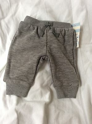 Cat & Jack jogging pants, Baby Boy, gray, sizes NB or 0-3 mo, ankle cuff NWT New