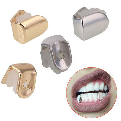 Hip Hop Gold Plated Teeth Single Tooth Grill Grillz Bottom Halloween Gift