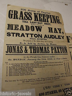 Stratton Audley Plough Inn Bicester 1858 Oxford PUB DECORATION
