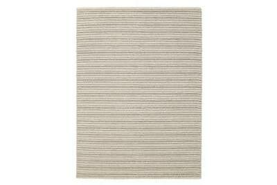 Hellena Braied Grey Felted Wool Rug 225x155cm