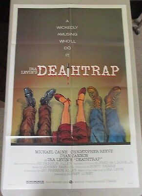 Vintage 1 sheet 27x41 Movie Poster Deathtrap 82 Michael Caine Christopher Reeve