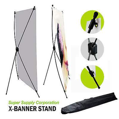 "24"" x 63"" X-Banner Stand  Poster Stand Trade Store Show Display with a Banner"