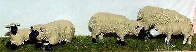 Assorted 3 x Sheep and 3 x Lambs O Scale 1:43 Ready Made and Painted Model. L20p