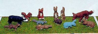 British / English Wild Animals O Scale 1:43 Ready Made and Painted Model. L22p