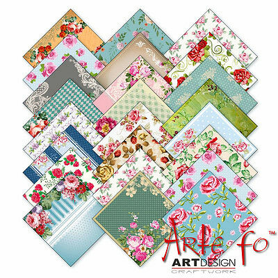 "68 Sheets Roses US HQ Design Paper Crafting Cards Scrapbooking 6x6"" Craft #pro"