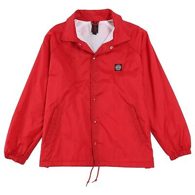 """New With Tags INDEPENDENT """"Subdue"""" Skateboard Coach Jacket (Red / Black) MEDIUM"""