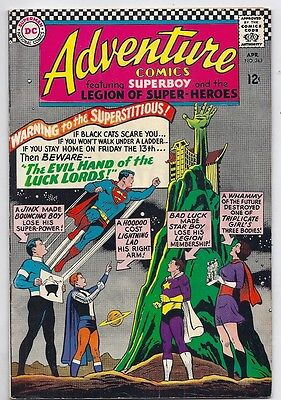 (1966) Adventure Comics #343 Superboy! Legion Of Super-Heroes! 4.5 / Very Good+