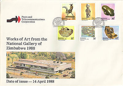 Zimabawe 1988 FDC Works of Art from the National Gallery of Zimbabwe