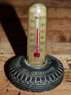 Antique Advertising Thermometer Goodrich Silvertown Super 6 Ply Tire Main St.