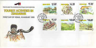 Zimabawe 1999 FDC Tourist Activities in Zinbabwe
