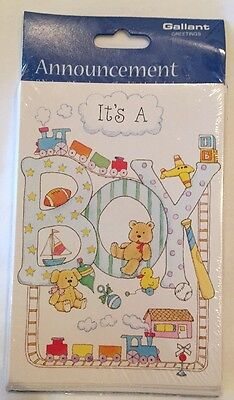 It's A Boy Birth Announcement Cards Lot Of 40